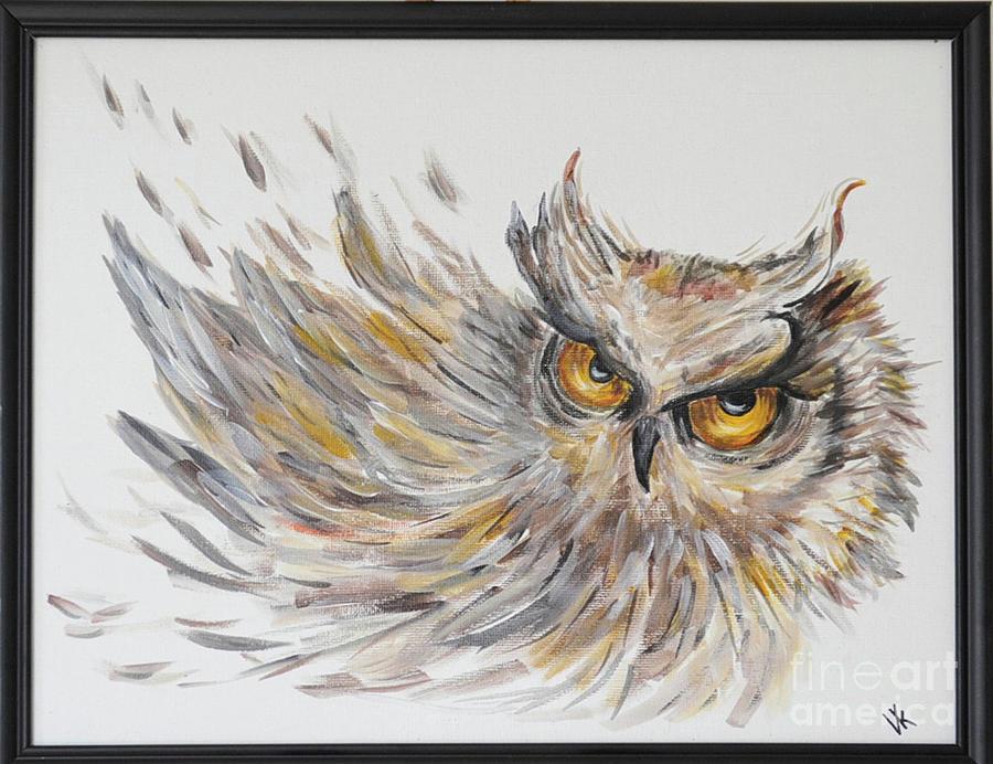 Abstract Owl Painting by Vera Kovtun