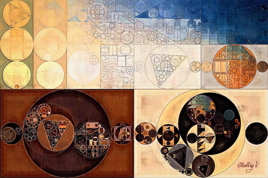 Sandstone Digital Art - Abstract Painting - Dairy Cream by Vitaliy Gladkiy