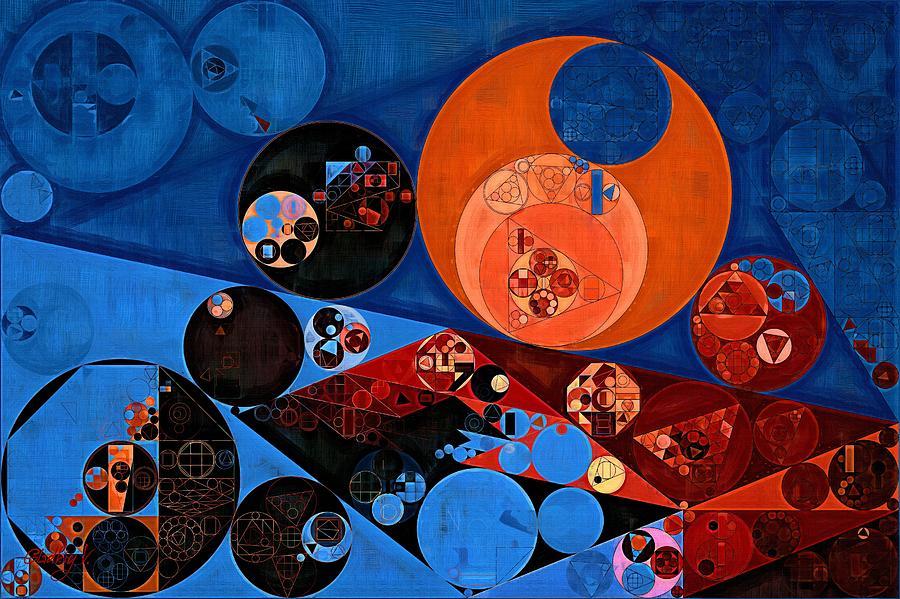 Decorative Digital Art - Abstract Painting - Dark Midnight Blue by Vitaliy Gladkiy