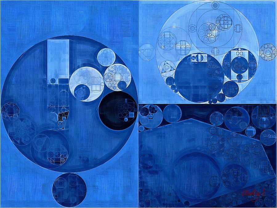 Ornament Digital Art - Abstract Painting - Denim by Vitaliy Gladkiy