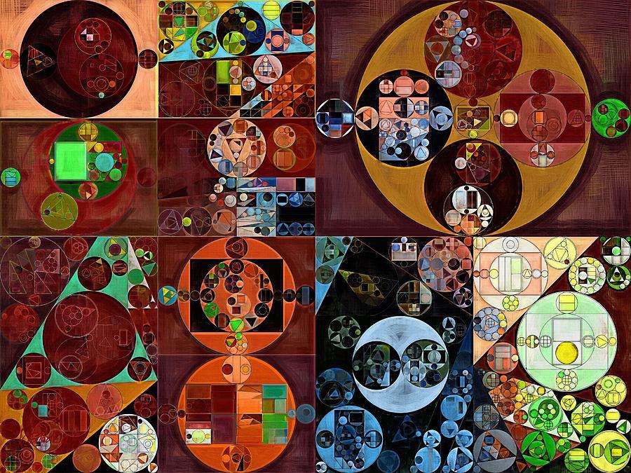 Colors Digital Art - Abstract Painting - Desert by Vitaliy Gladkiy