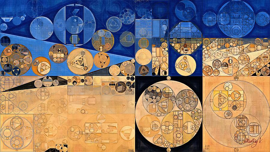 Geometry Digital Art - Abstract Painting - Fawn by Vitaliy Gladkiy