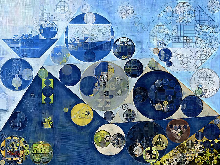 Acrylic Digital Art - Abstract Painting - Kashmir Blue by Vitaliy Gladkiy