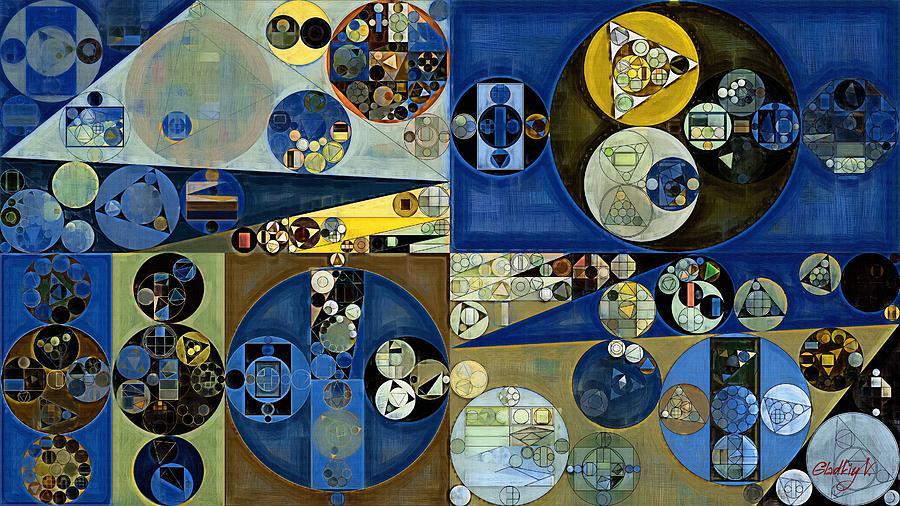 Variation Digital Art - Abstract Painting - Laurel Green by Vitaliy Gladkiy