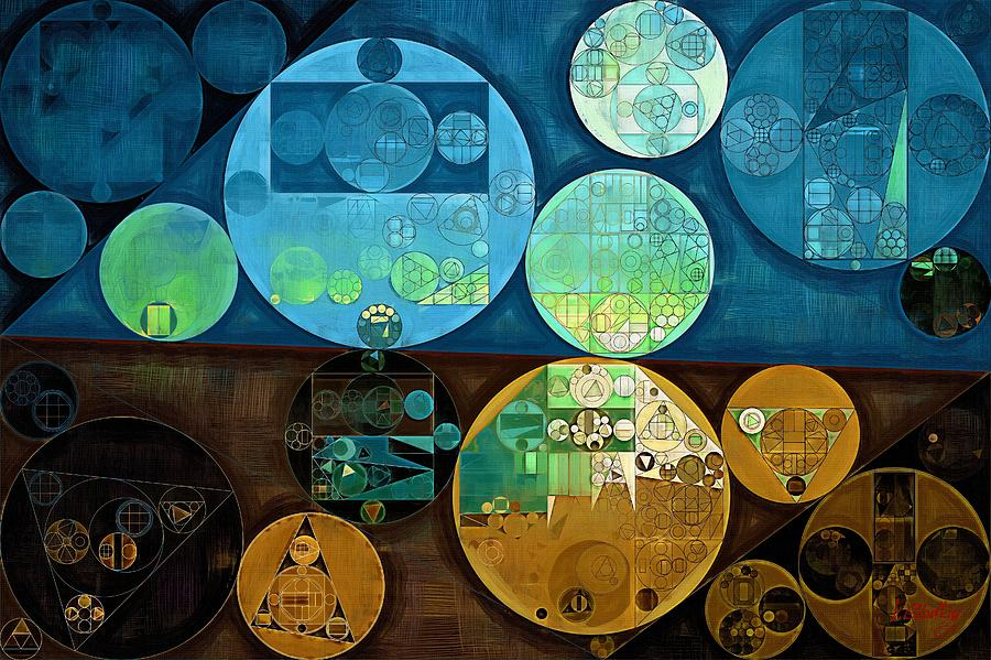 Fantastical Digital Art - Abstract Painting - Monte Carlo by Vitaliy Gladkiy