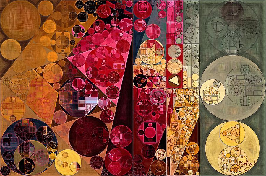 Constructionism Digital Art - Abstract Painting - Mule Fawn by Vitaliy Gladkiy