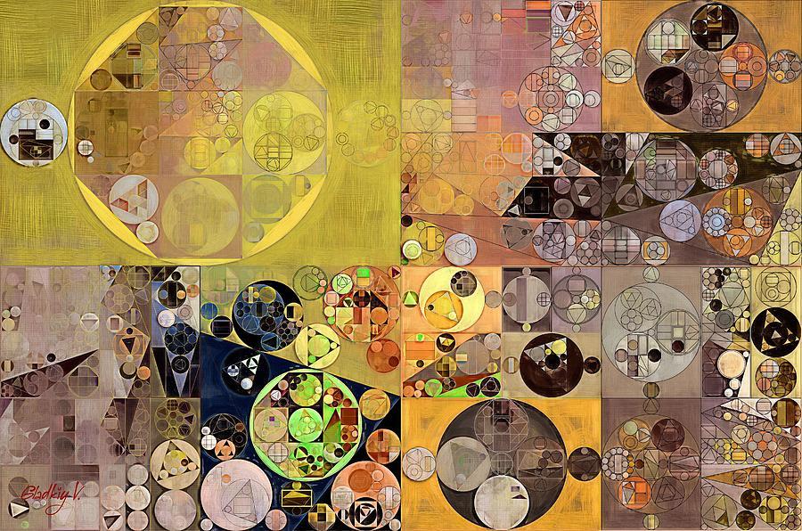 Textured Digital Art - Abstract Painting - Pale Brown by Vitaliy Gladkiy