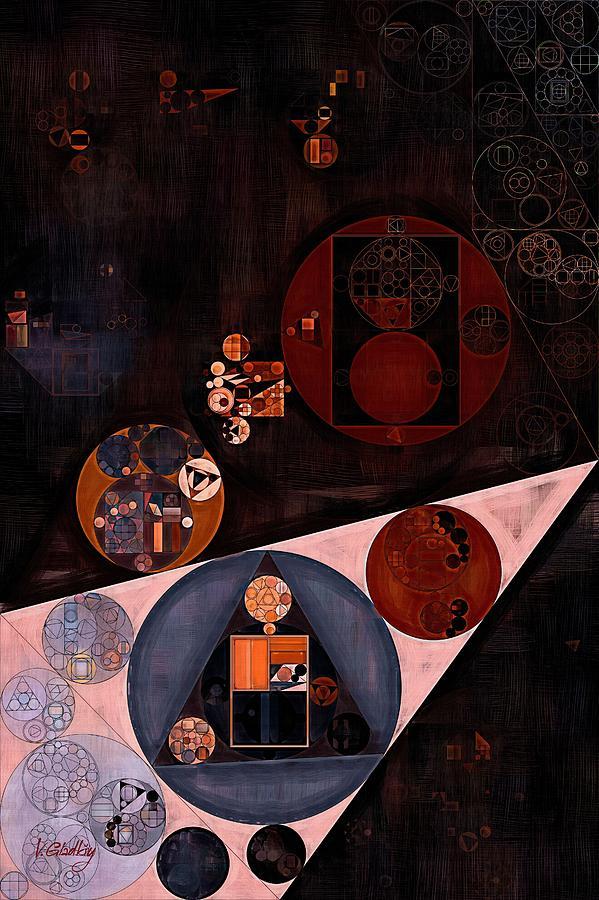 Gradient Digital Art - Abstract Painting - Very Dark Brown by Vitaliy Gladkiy