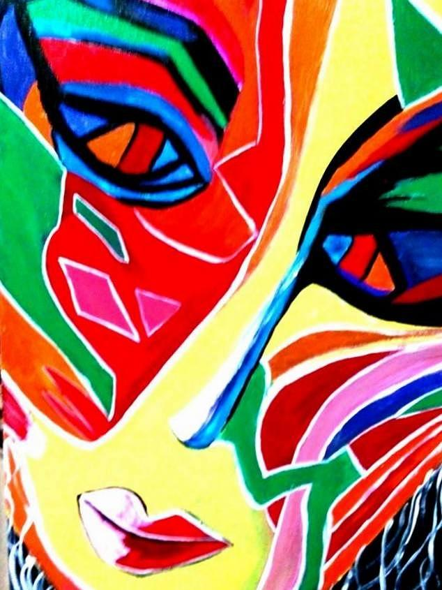 Abstract Painting - Abstract Painting - Woman Of Colors by Saumya Saxena