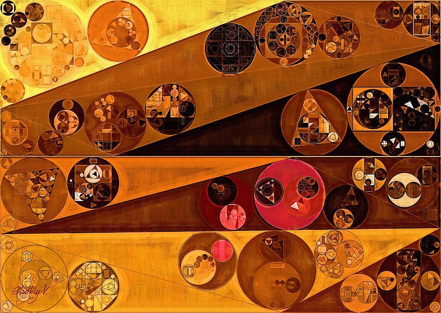 Geometric Digital Art - Abstract Painting - Yellow Sea by Vitaliy Gladkiy