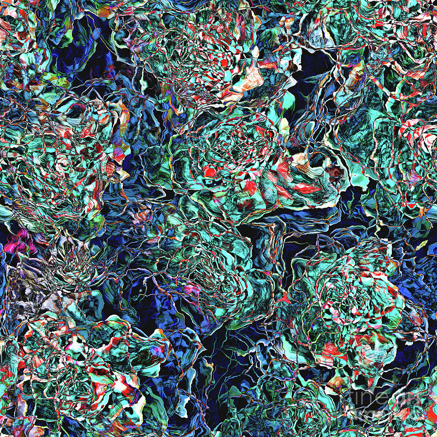 Pattern Digital Art - Abstract Pattern Of Colors by Phil Perkins