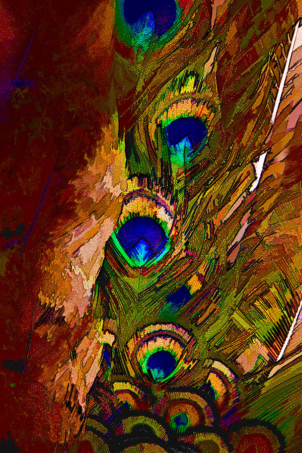 Abstract Peacock by Ches Black