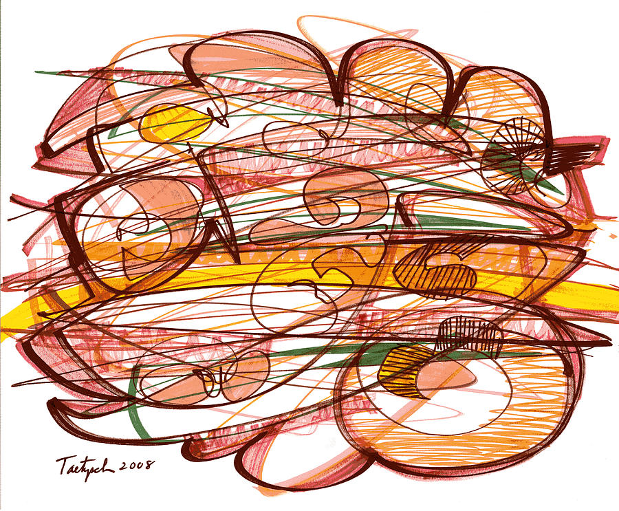 Abstract Drawing - Abstract Pen Drawing Eight by Lynne Taetzsch