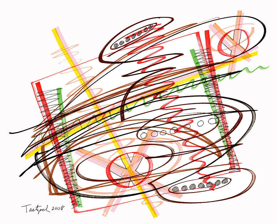 Abstract Drawing - Abstract Pen Drawing Seven by Lynne Taetzsch
