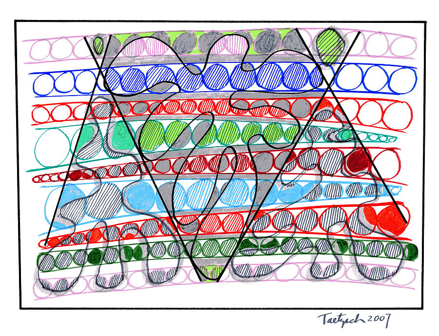 Abstract Drawing - Abstract Pen Drawing Thirteen by Lynne Taetzsch