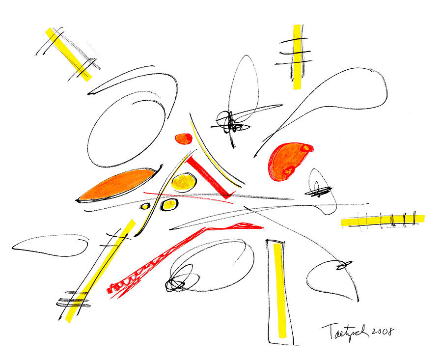 Abstract Drawing - Abstract Pen Drawing Twenty-four by Lynne Taetzsch