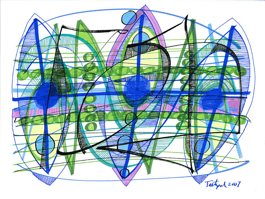 Abstract Pen Drawing Twenty-one Drawing