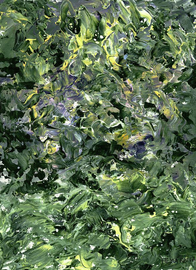 Floral Painting - Abstract Petals by Hema Rana