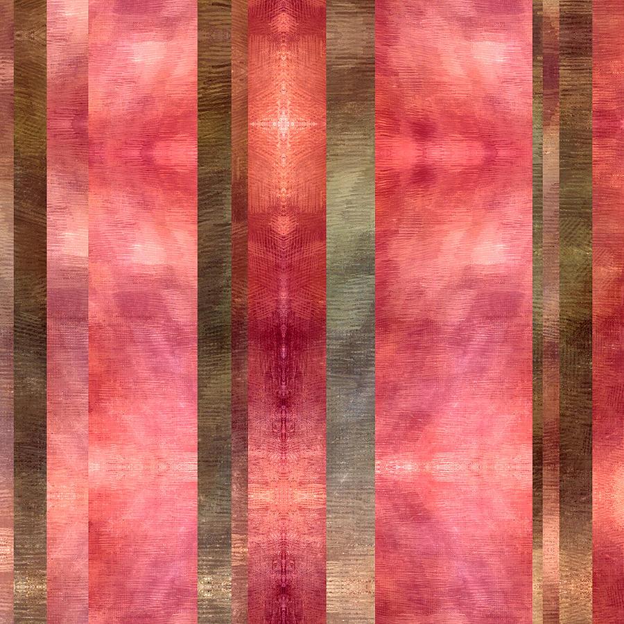 Brandi Fitzgerald Digital Art - Abstract Pink And Brown Bars by Brandi Fitzgerald