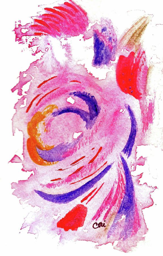 Rose Painting - Abstract Pink by Corinne Carroll