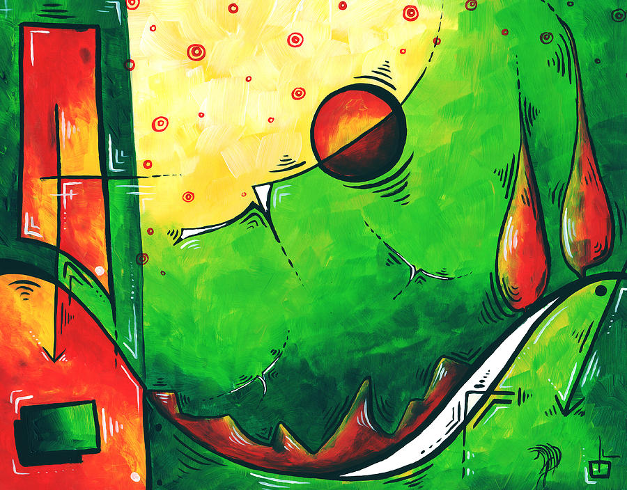 Abstract Painting - Abstract Pop Art Original Painting by Megan Duncanson