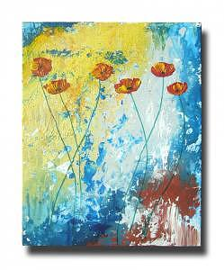 Abstract Poppies Painting by Eridanus Sellen