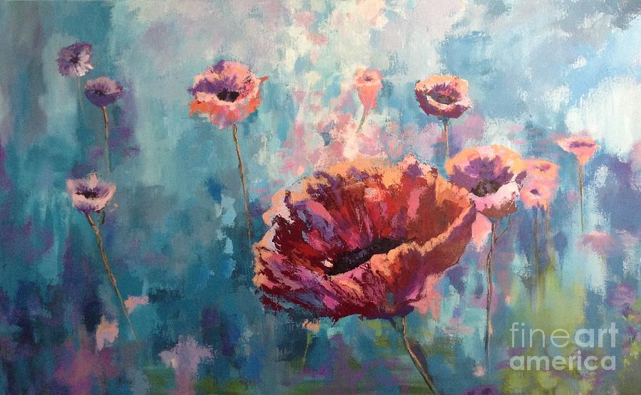 Abstract Poppy by Kathy Laughlin