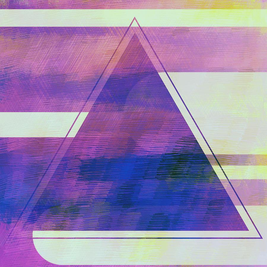 Brandi Fitzgerald Digital Art - Abstract Purple Triangle by Brandi Fitzgerald