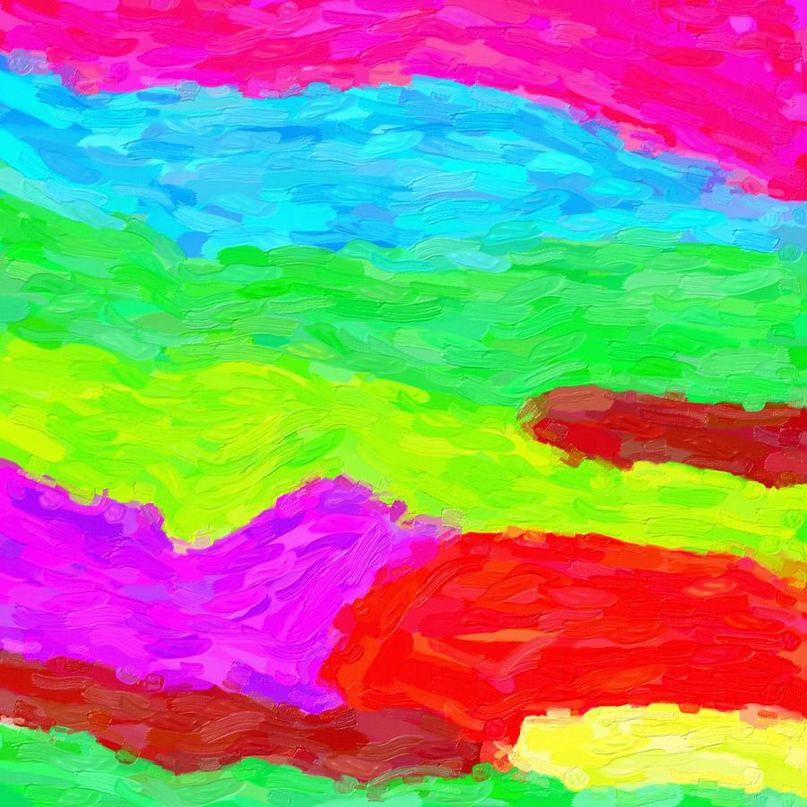 Abstract Rainbow Art By Adam Asar 3 Painting