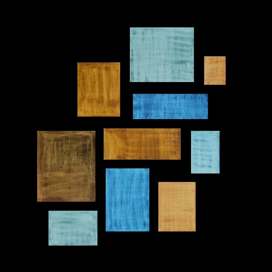 Abstract Rectangles Painting - Abstract Rectangles by Frank Tschakert