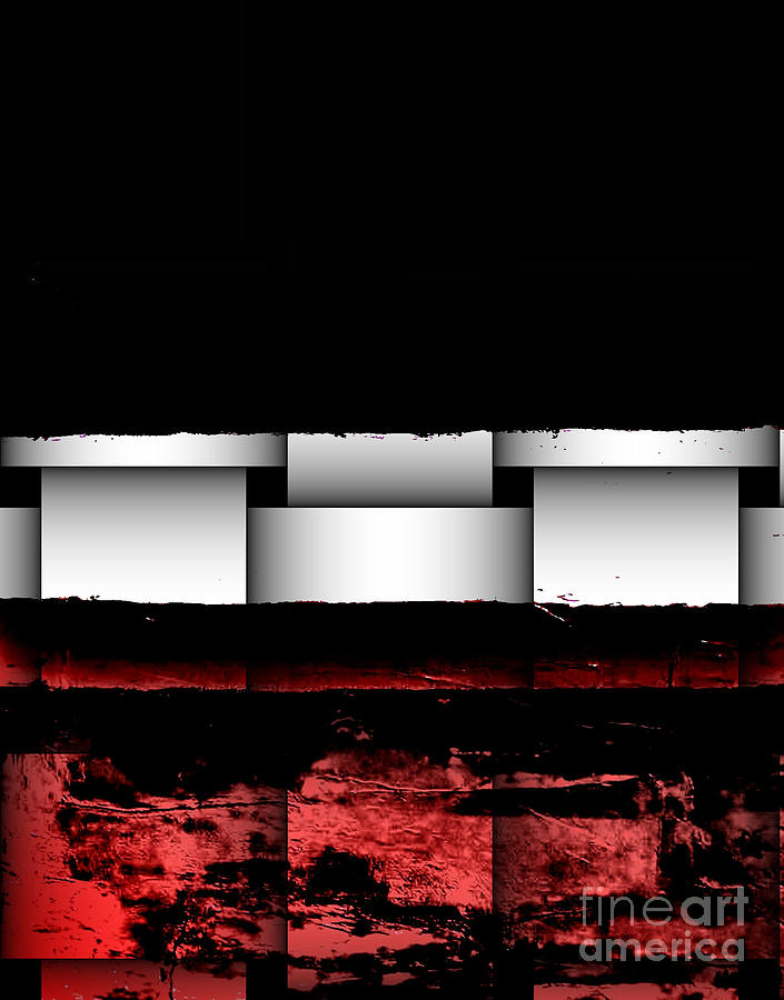Painting Painting - Abstract Red And Black Ll by Marsha Heiken
