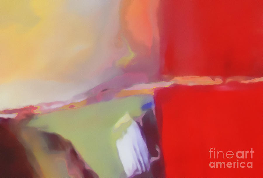 Landscape Digital Art - Abstract Red by Jennifer Van Niekerk