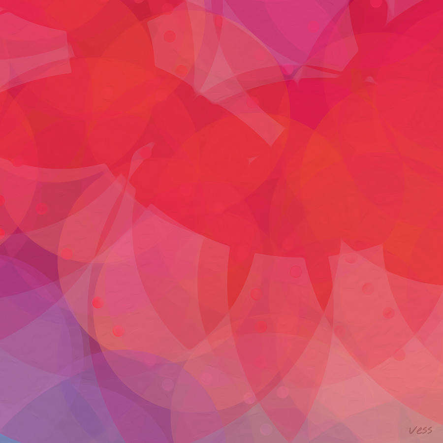 Abstract Painting Painting   Abstract Red Modern Pink Violet Purple Digital  Painting Original Office Wall Art