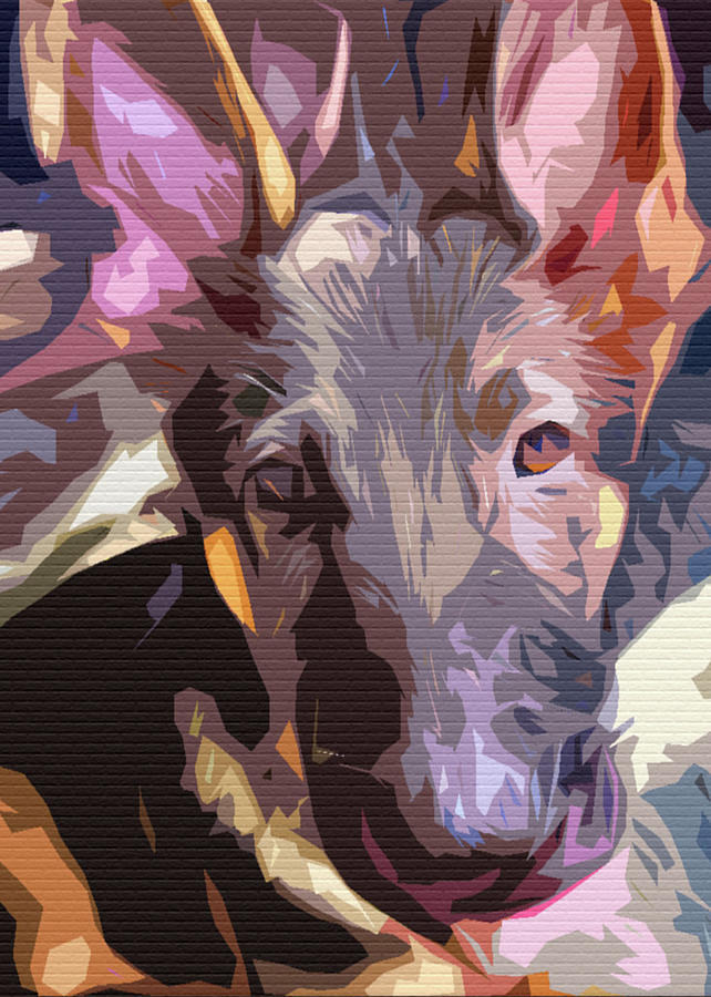 Abstract Riley Big Ears by Angel Sharum