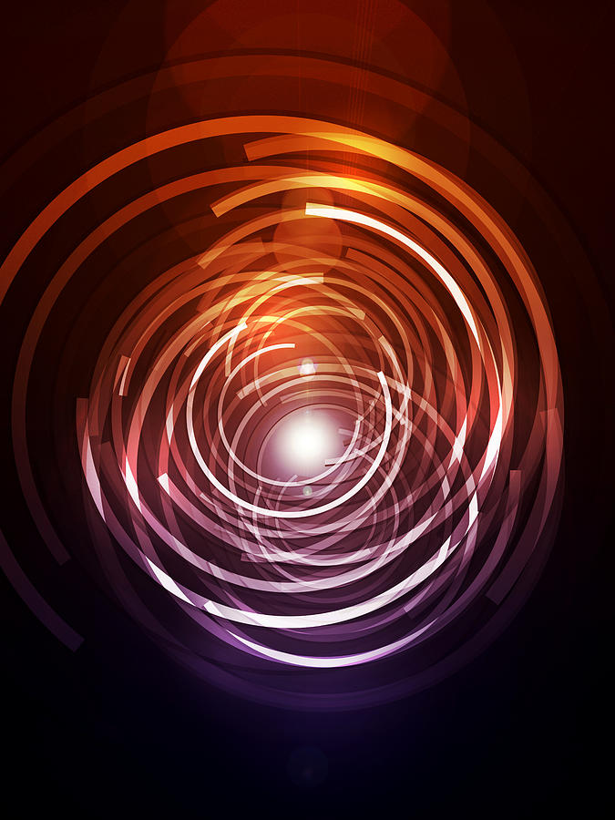 Abstract Digital Art - Abstract Rings by Michael Tompsett