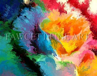 Abstract Rose Digital Art by Randy Fawcett