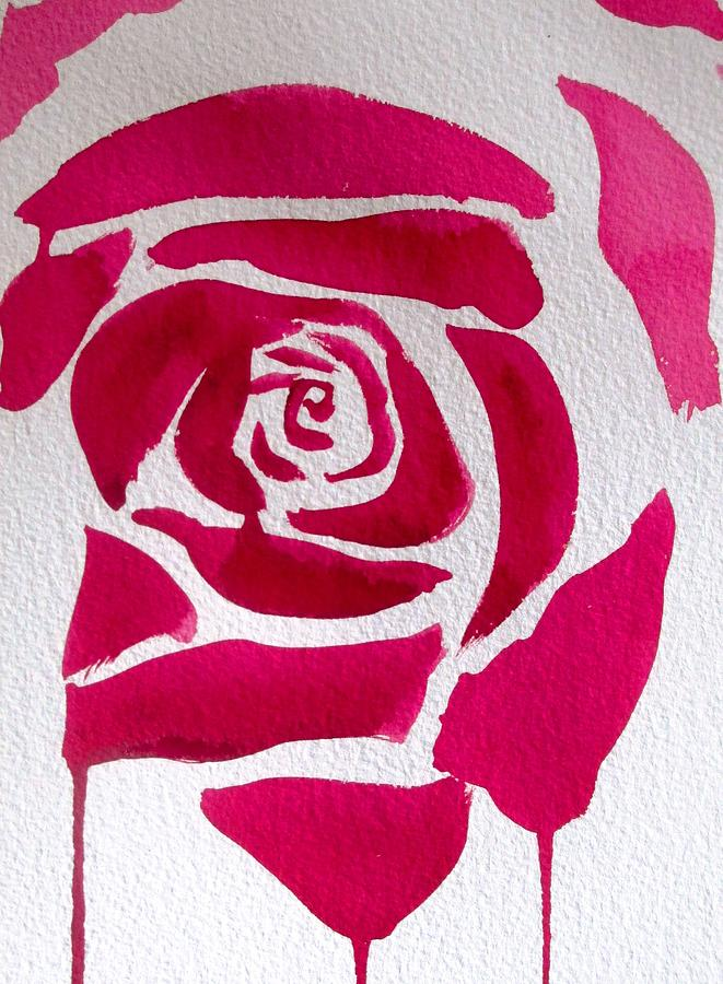 Rose Painting - Abstract Rose by Sacha Grossel