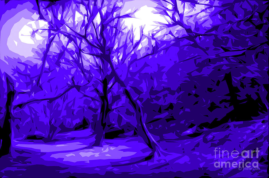 Abstract Landscape Digital Art - Abstract Sanctuary by Jacqueline Milner