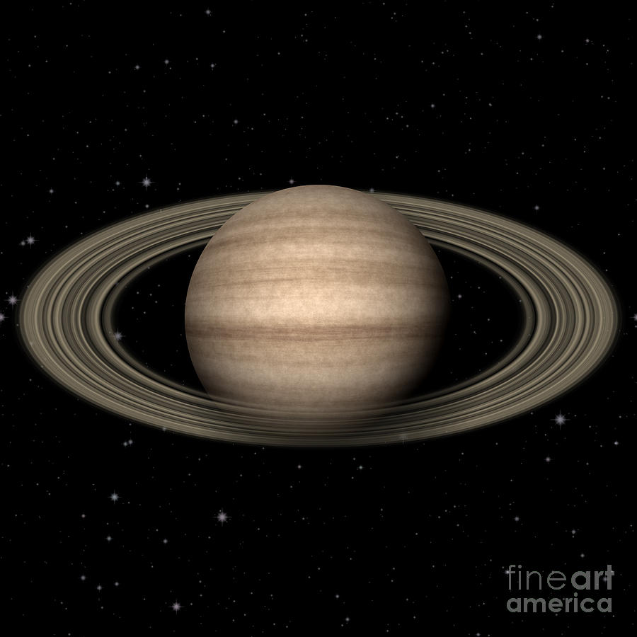 Abstract Saturn Digital Art