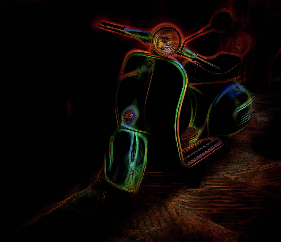 Scooter Photograph - Abstract Scooter by Elijah Knight