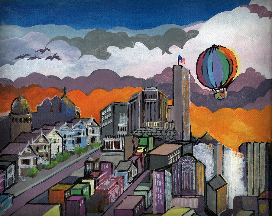 San Francisco Painting - Abstract Sf 1 by Timothy Hawkins