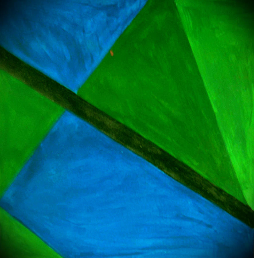 Green Painting - Abstract Shapes  by Anne Robinson
