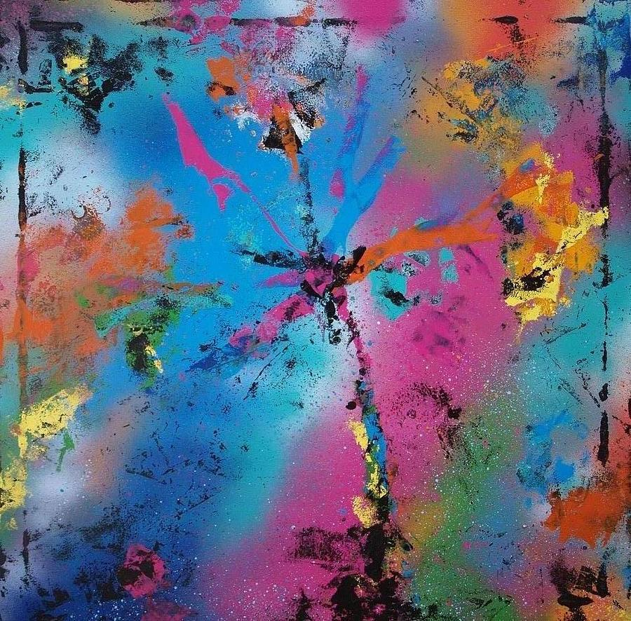 Abstract Painting - Abstract Spray Art  by Morten Gaarden