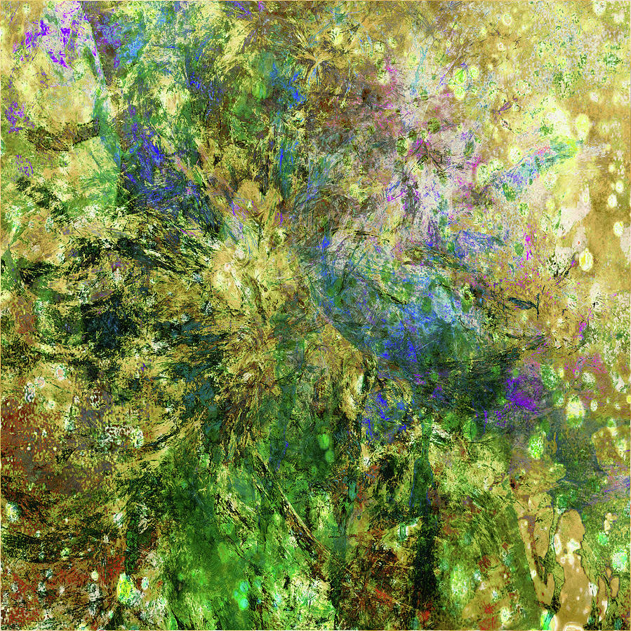 Abstract Spring Burst Inspired By Van Gogh by Georgiana Romanovna