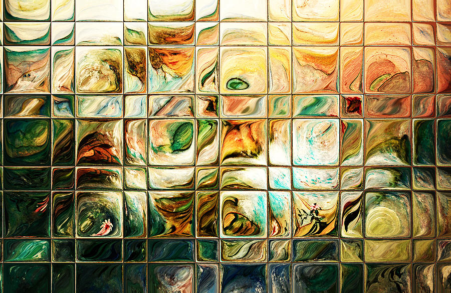 Abstract Digital Art - Abstract-through Glass by Patricia Motley