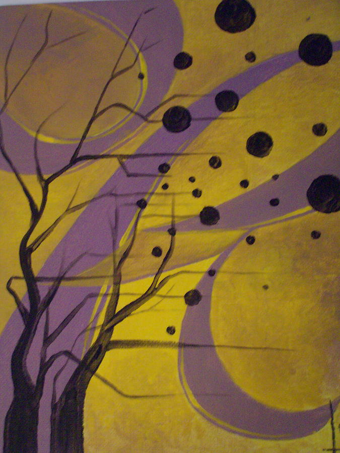 Tree Painting - Abstract Tree by Lisa Stevens