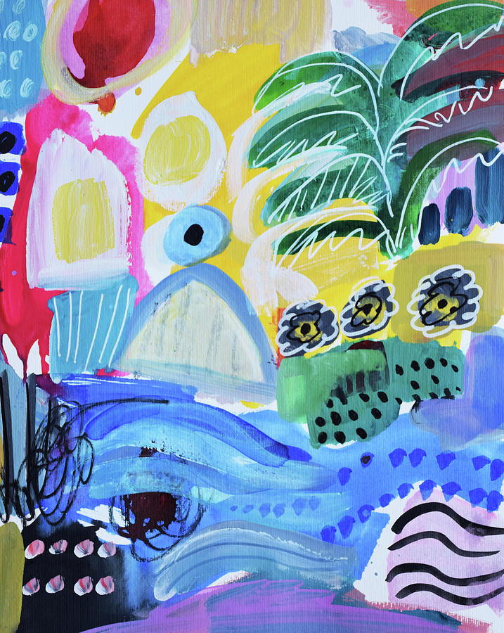 Painting Painting - Abstract Tropical Landscape by Amara Dacer