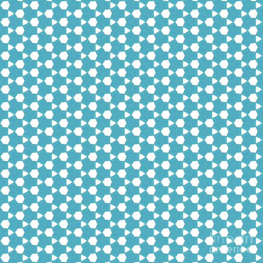 Pattern Digital Art - Abstract Turquoise Pattern 1 by Alisha at AlishaDawnCreations