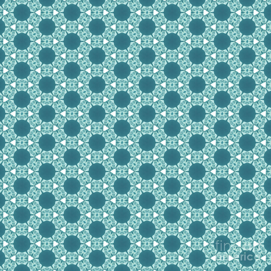 Pattern Digital Art - Abstract Turquoise Pattern 3 by Alisha at AlishaDawnCreations