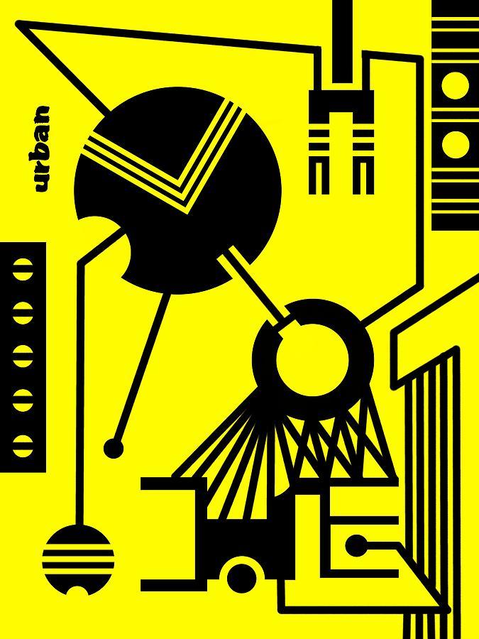 Contemporary Digital Art - Abstract Urban 02 by Dar Geloni